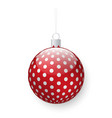 bauble for pine tree decoration christmas decor vector image vector image