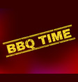 bbq time grunge stamp seal on gradient background vector image