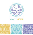 beauty logo design template vector image vector image