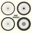bicycle wheel symbol bike vector image vector image
