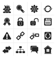 Black Internet and web site icons vector image vector image