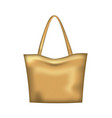 brown woman handbag vector image vector image