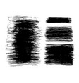 brush strokes set hand drawn scribble abstract vector image vector image