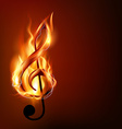 burning music note vector image vector image