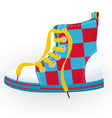 Checked sneaker vector image