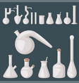 chemical flask laboratory lab glassware vector image vector image