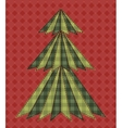 Christmas tree for scrapbooking 6 vector image vector image