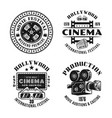 cinema and cinematography set emblems vector image vector image