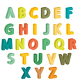 Colorful letters vector image vector image
