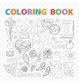 Coloring bookMarch set vector image vector image