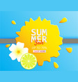 creative summer sale banner with lemon and vector image vector image