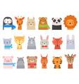 cute baby animals children funny wild alphabet vector image vector image