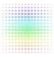 diploma icon halftone spectrum grid vector image vector image