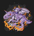 dragon fire vector image