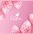 easter eggs on pink background vector image vector image