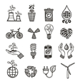 Ecology and waste icons set vector image vector image