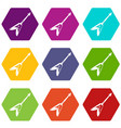 electric guitar icons set 9 vector image vector image