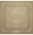 elegant frame for design vector image vector image