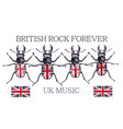 fashion british rock music with beetles vector image