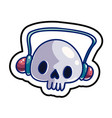 fashion patch skull badge vector image vector image