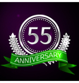Fifty five years anniversary celebration with vector image vector image