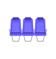 flat colorful of blue seat vector image vector image