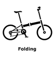 Folding bike icon simple style vector image vector image