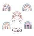 follow rainbow vector image