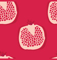 food collection red background seamless pattern vector image vector image