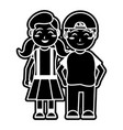 girl and boy cartoon design vector image