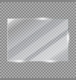 glass plate frame realistic glossy window vector image