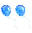 globe balloon vector image vector image
