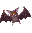 Halloween bat flying vector image vector image