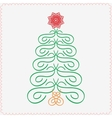 Hand-drawn christmas tree Typographic and vector image vector image