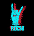 hand drawn of rock hand with bracelet with studs vector image