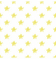 hand drawn yellow stars seamless pattern vector image vector image