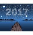 Happy New 2017 vector image vector image