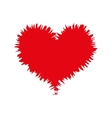 heart love red vector image