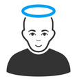holy man flat icon vector image vector image