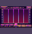 interface slot machine in purple colored vector image vector image