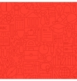Line Education Red Seamless Pattern vector image vector image
