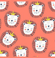 lion seamless pattern vector image vector image