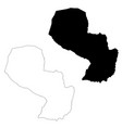 map paraguay isolated black vector image vector image