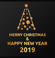 merry christmas and happy new year post card vector image