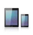 Modern digital tablet PC with mobile smartphone vector image vector image