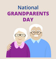 national grandparents day vector image