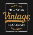 new york vintage graphic for t-shirt vector image vector image