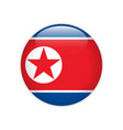 north korea flag on button vector image