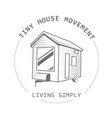 off grid tiny house on wheels - trailer hovel vector image vector image