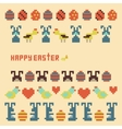 ornament collection easter items vector image